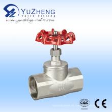 Válvula de globo roscada de acero inoxidable con tuerca de rueda manual
