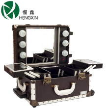 Professional Cosmetic Case with Lights and Mirror (retro style)