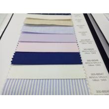 Mezcla lisa 68% algodón 32% tela de la camisa de seda para la confección