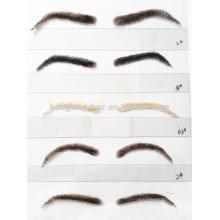 высокое качество человеческих волос ложные брови поддельные брови кружева брови для продажи