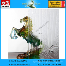 3-8mm Clear Bamboo Patterned Glass with AS/NZS2208: 1996