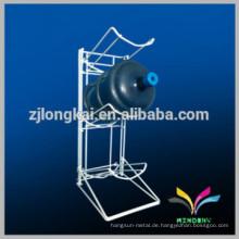 Einfache Montage Metall Boden Standing Display 5 Gallonenhalter Wasser Flasche Lagerung Rack