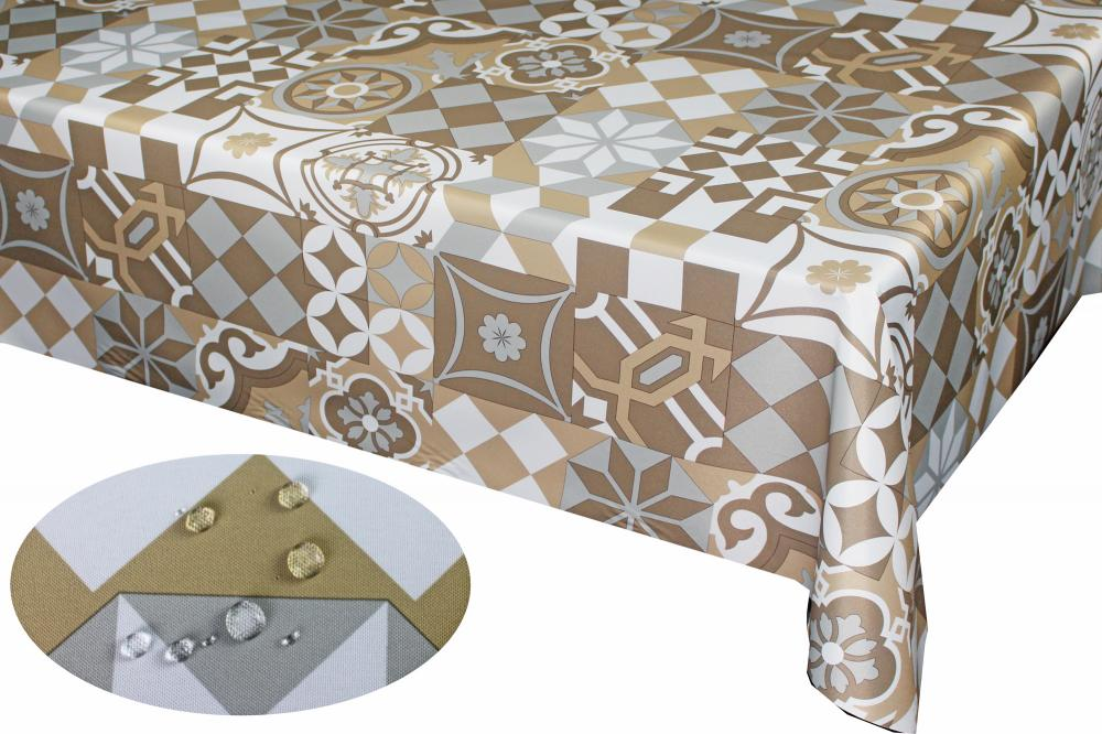 PU Coating Printed Cotton Tablecloth