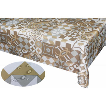 PU coating with printed fabric Tablecloth