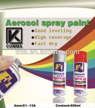 450ml MSDS Aerosol Fluorescent Oil Paint