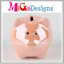 Migodesigns Radiant Ceramic Orange Pig Coin Bank Decoration
