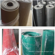 Feuille en caoutchouc d'isolation colorée / Mat / Roll
