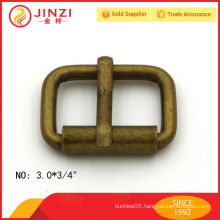 custom-made iron material roller pin buckles in anti-brass color