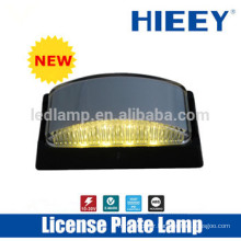 2015 Hot sale Offroad License plate lamp with E-MARK truck license plate lamp number plate light