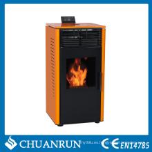 Estufa de biomasa naranja con negro (CR-07)