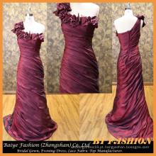 Mais recente vestido de noite formal formal vestido de festa de cetim vestido de noite BYE-14079