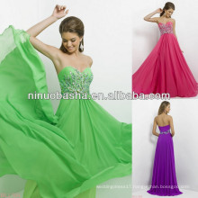 NW-453 Jewels and Silver Beads Drape Up Bodice Evening Dress Prom Gown 2014