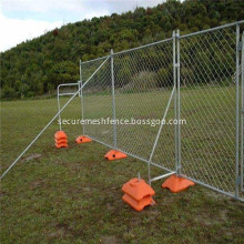 Temporary Chain Link Fence with Plastic Base