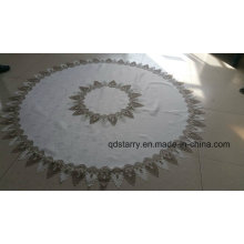 Projeto 2016 novo de pano de tabela circular do bordado da beira do laço