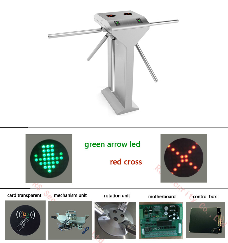 Bi-directional Biometric Tripod Turnstile Gate