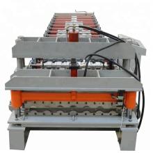 Petit pain de tuile vitré par feuille d'acier galvanisé formant la machine