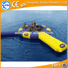 Crazy water park slides for sale, inflatable bungee water trampoline with tubes