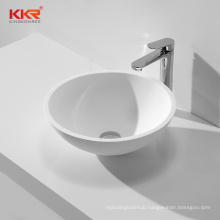 Round lavabo artificial stone resin acrylic solid surface wash basin bathroom vessel sink