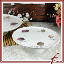 Ceramic pedestal cake stand for wedding cakes