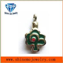 Colgante de joyería de la manera de la flor de la forma verde