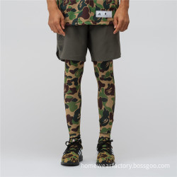 Army pattern legging long football pants