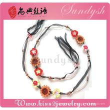 Meistverkaufte handgemachte Mode Perlen Blume Juwel Gürtel