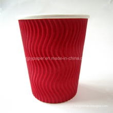 8oz Wave Ripple Wall Coffee Paper Cup with Customized