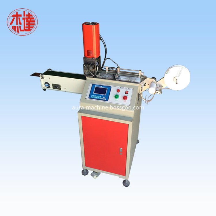 Ultrasonic Cloth Trademark Cutter for Fabric