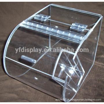 uma caixa de pão com lábio articulada de doces barato acrílico desobstruído