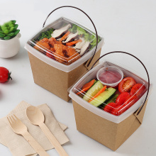 Kustom Printed Noodle Disposable Food Kraft Paper Box