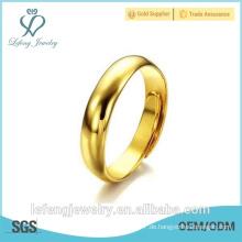 Handgefertigte Größe verstellbare hoch polierte benutzerdefinierte vergoldeten Ringe für Frauen