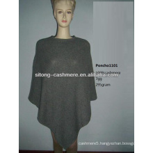 2015 new fashion 100% pure knitting Cashmere PONCHO for women