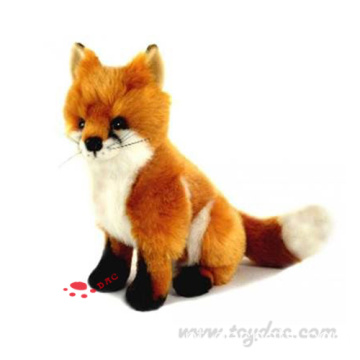 mais fofo faux fur red fox