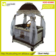 ASTM F406-12A Aprovado Baby Playpen com Mosquito Net estilo mongol