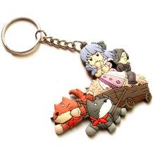 Kundenspezifisches weiches PVC Keychain, weiche Gummi Keychains