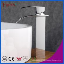 Robinet de mélangeur d'eau de robinet de bassin de lavage de cascade simple de corps de Fyeer élevé