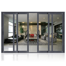 Hot new products laminated double glass storm proof hotel entry doors