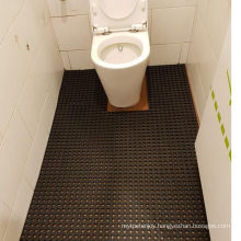 Drainage Holes Design Safety Grid Mattings Rubber Floor Mat for Washing Room Workbench