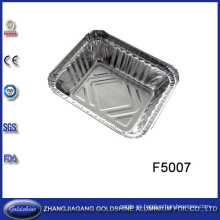 Uso desechable de alimentos saludables Tamaño de la bandeja de aluminio