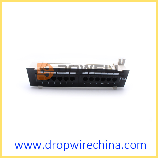 12 Port Mini Wall Mount Cat6 patch panel