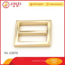 Jinzi marque 25mm nickle couleur haute qualité sacs à main boucle pièces