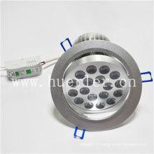 Vente chaude AC100-240v 220v 18w vers le bas lumière led éclairage shenzhen