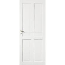 Vier Fenster weiß grundiert, Stile & Schiene Tür