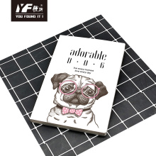 Adorable dog style soft cover glue notebook