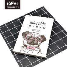 Adorable cahier de colle à couverture souple de style chien