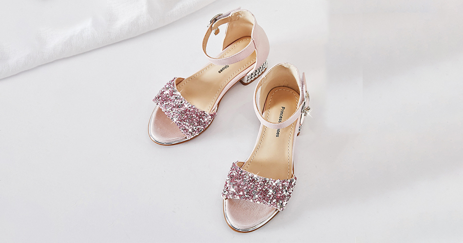Girls Sequins Sandals