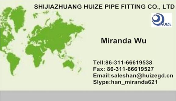 business card for pipe fitting reducing tee