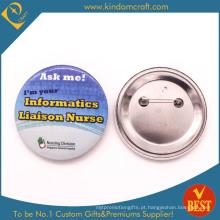 Emblema do botão de linho da ligação da informação no impresso