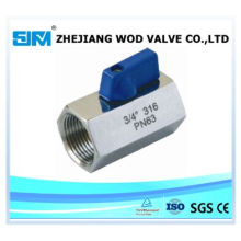 Stainless Steel 316 Mini 1PC Ball Valve (valvula)