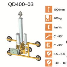 Levantador de ventosas para manipulación de vidrio de 300 kg